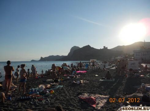 пляж в городе судак