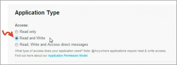 Аутентификация в твиттере шаг 5