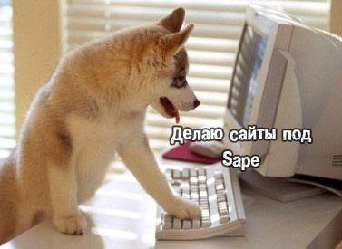 Делаю сайты под Sape