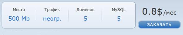 Тарифы на link-host