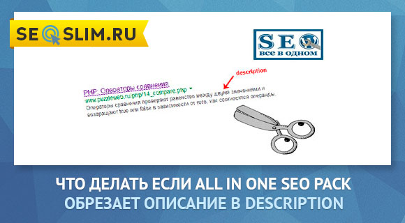 Плагин All In One SEO Pack обрезает description