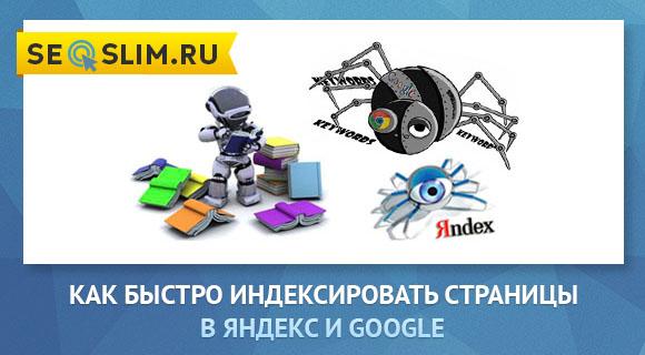 Как загнать статью в индекс Яндекс и Google