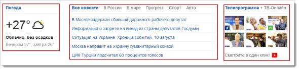 главные элементы поисковика Спутник