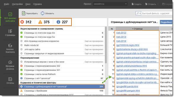 SEO-анализ вебсайта