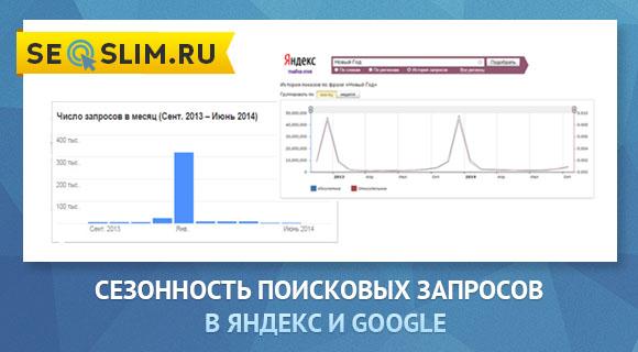 сезонность запросов в Яндекс и Google