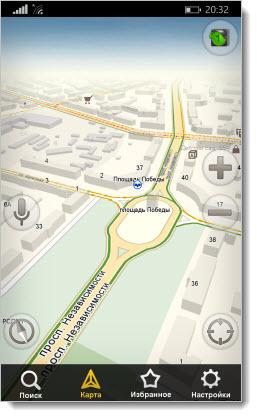 Навигатор от Яндекс