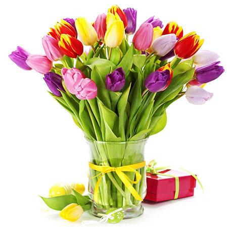 красивый букет цветов на 8 марта