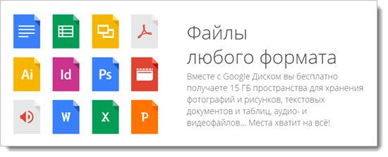 Онлайн версия Гугл Диск