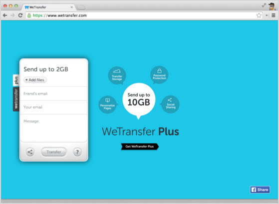 сервис WeTransfer