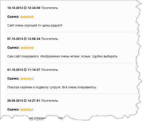 отзывы интернет-магазинов