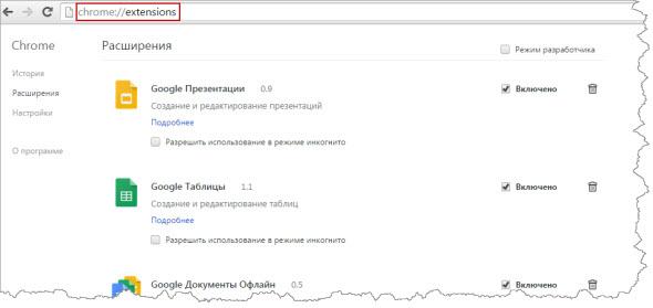 Расширения для браузера Хром