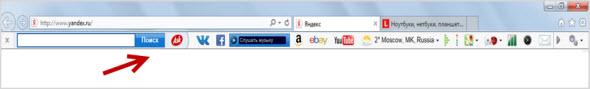 панель поиска ASK в браузерах