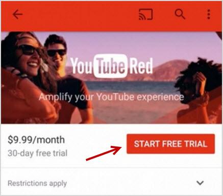 как подключиться к YouTube Red