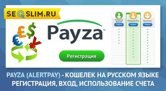 Кошелек Payza (Alertpay)