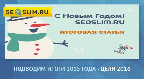 Подводим итоги 2015 года для seoslim.ru