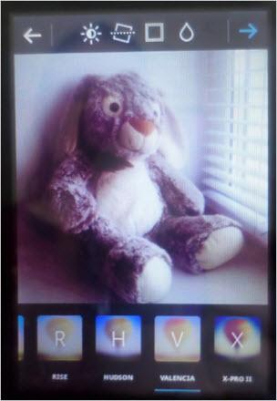 фильтры к фотографиям приложения Insta