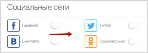 интеграция профиля с другими соцсетями