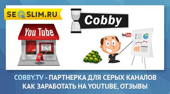 Монетизация серых каналов парнтерка Cobby.tv