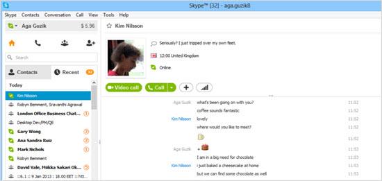 пример программы Skype