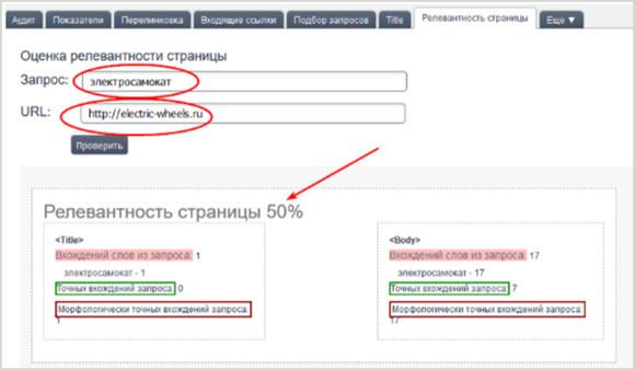 анализ сайтов в Megaindex