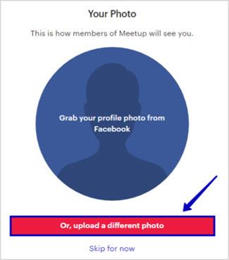 как добавить фотографию в профиль meetup