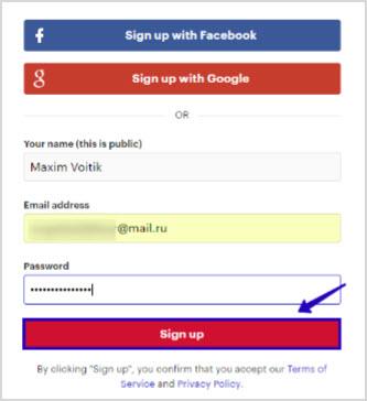 регистрация в социалке