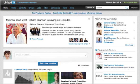 аккаунт в LinkedIn