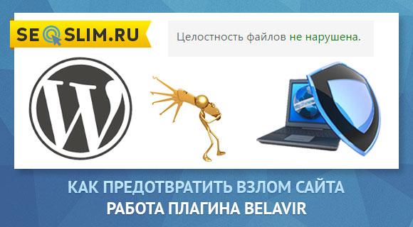 Следим за изменениями файлов WordPress плагин Belavir