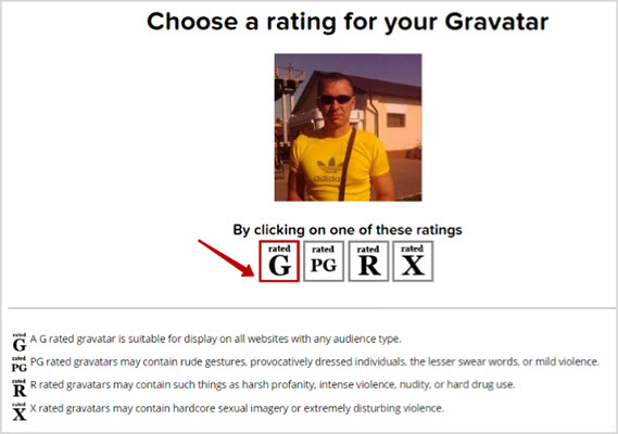 рейтинг аватарки в вордпресс