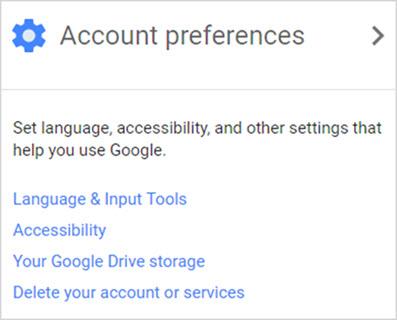 настройки аккаунта Gmail
