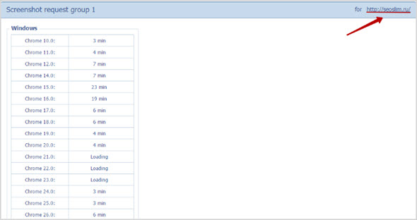 детали проверки browsershots.org
