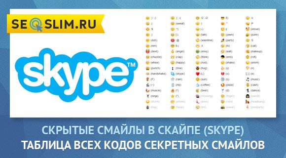Пример скрытых смайлов для Скайпа