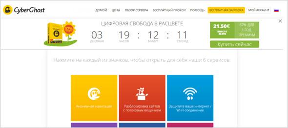 сервис CyberGhost