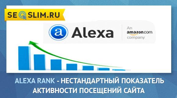Статистика посещений Alexa Rank