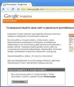 статистика посещений Google Analytics