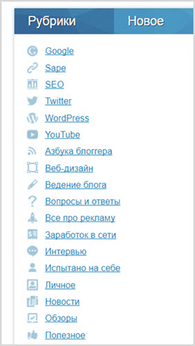 Category & Page Icons