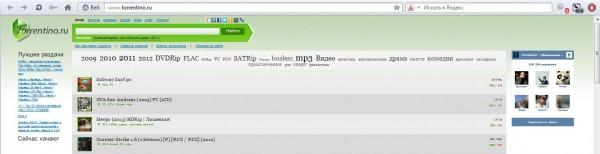 Сайт без рекламы Torrentino.ru