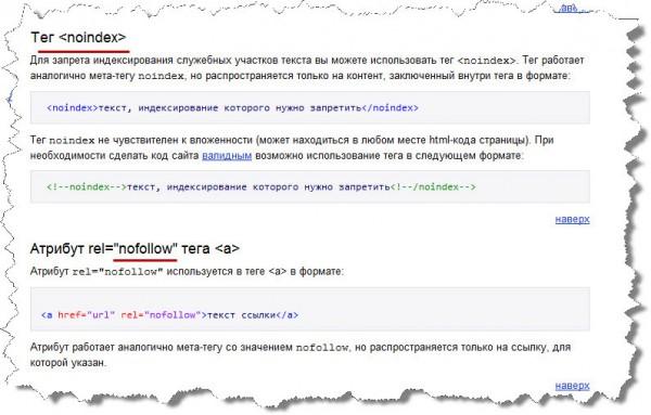 как правильно использовать теги у Яндекса