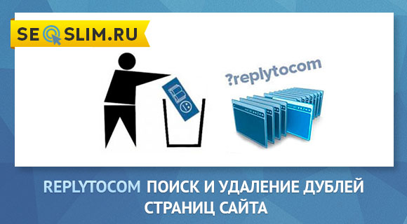 поиск и удаление дублей страниц Replytocom