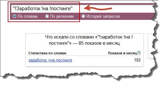 Статистика запросов Яндекса