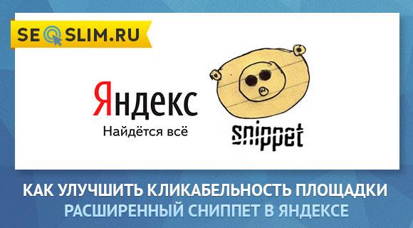 Расширенный сниппет в Яндексе