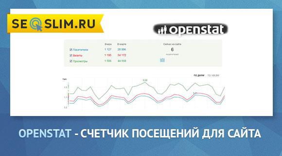 Openstat - счетчик, статистика и рейтинг
