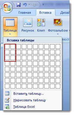 таблица в PowerPoint