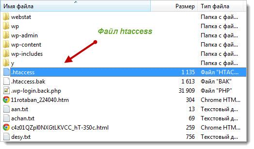 расположение файла htaccess