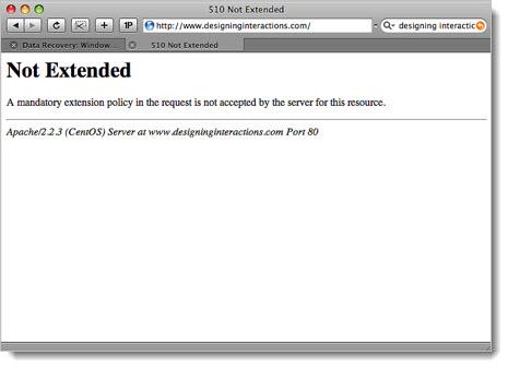 код 510 запрет распространения содержимого сервера