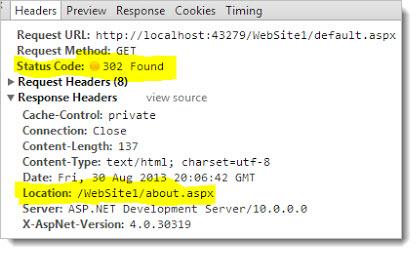 код ответа сервера 302