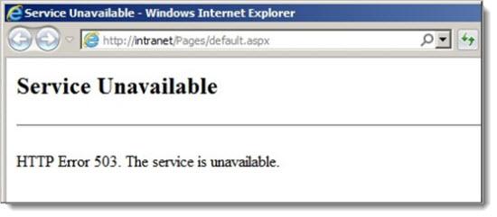 нет доступа к серверу код 503