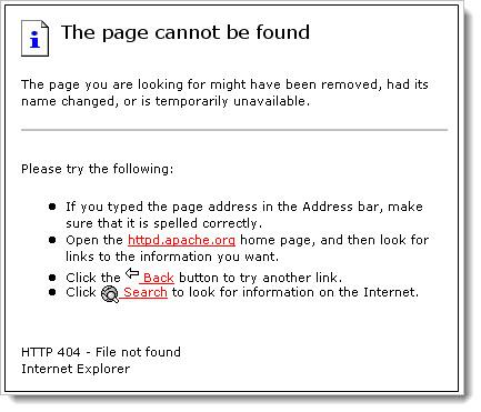 страница не найдена код 404