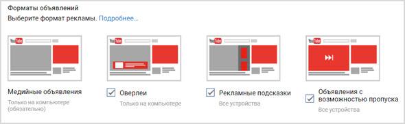 форматы рекламы без медиа сети