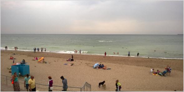 пляж в ненастье